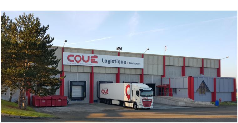 Transports Coue plateforme logistique logo Coué