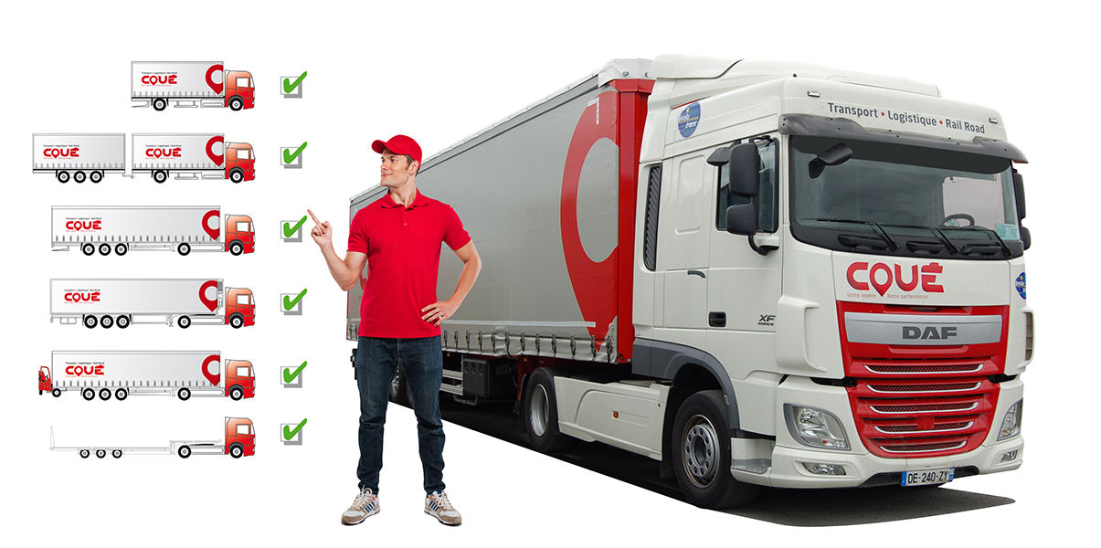Transports Coué parc camions