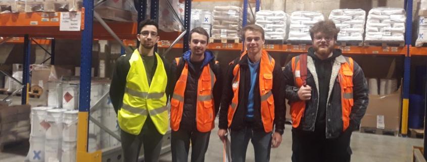 Etudiant IUT Logistique visite plateforme Logistique ICPE Transports COUE
