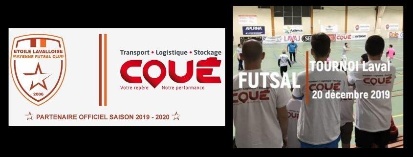 Transports Coué tournoi inter-entreprises de Futsal à Laval