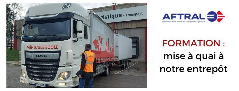 Transports Coué formation Aftral à notre entrepôt article