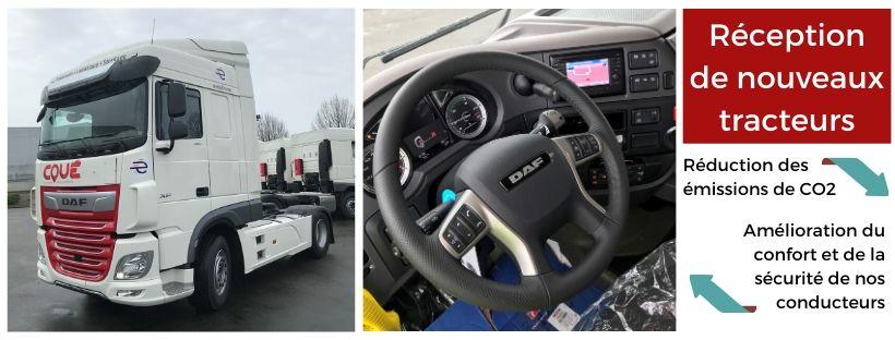 Transports Coué - réception de nouveaux tracteurs