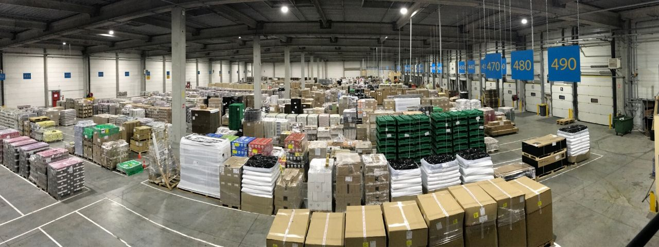 Transports Coue plateforme distribution palettes
