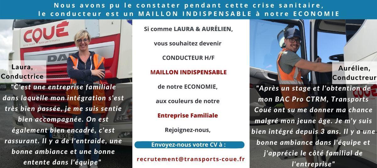 Recrutons Conducteur Routier Maillon Indispensable chez Transports Coué