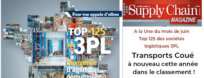 Transports Coué de nouveau dans le classement des sociétés logistiques 3PL