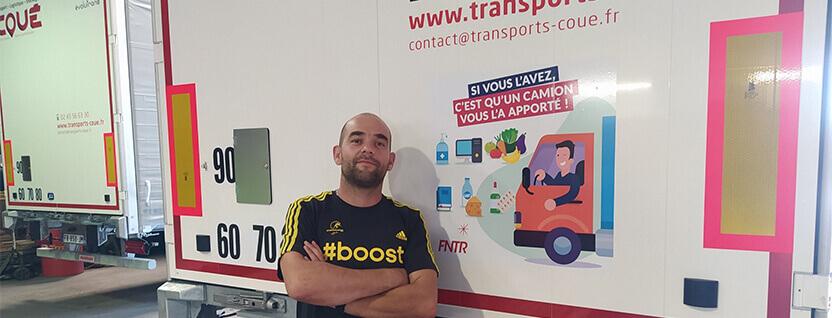 Transports Coue Campagne FNTR soutien metier du transport routier