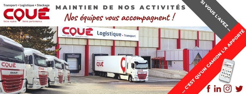 Containment - Transports Coué continue their Transport & Logistics activities