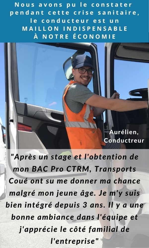 Transports Coué Recrutement Conducteurs Routier SPL HF