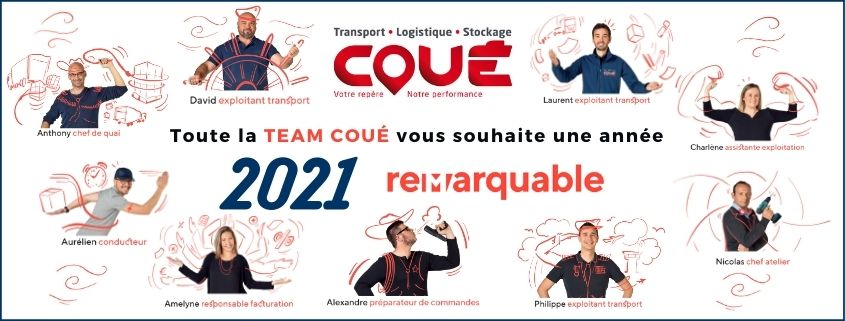 Transports Coué wish you a happy new year 2021