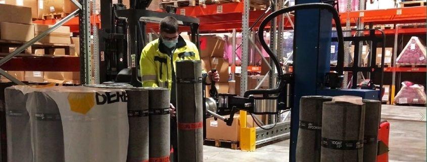 Transports Coué s'équipent d'un bras de manutention charges lourdes pour la logistique