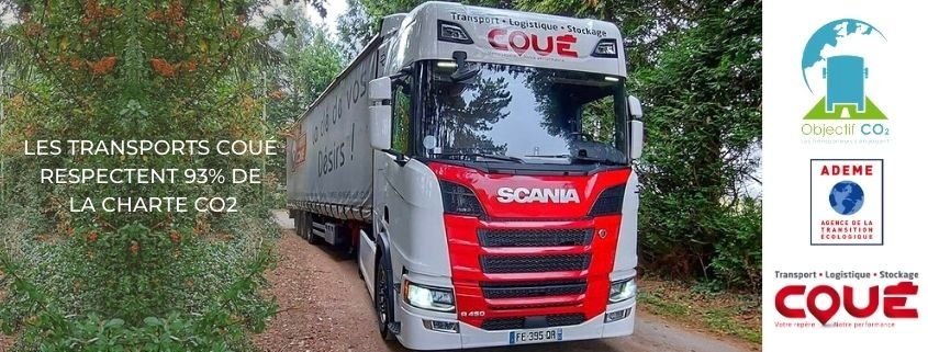 Transports Coué respect 93 percents of the CO2 Charter