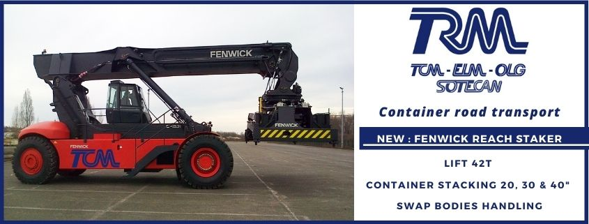 Transports Coué acquiers a new Reach Stacker Fenwick for the Container Transport activity