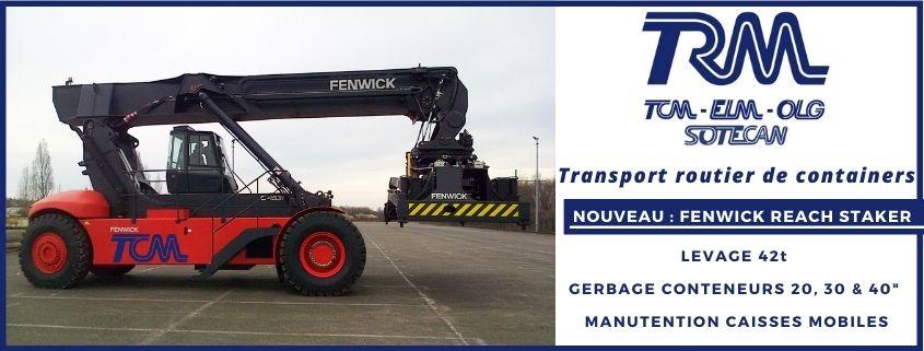 Transports Coué acquisition d'un nouveau Reach Stacker Fenwick pour l'activité Transport de containers