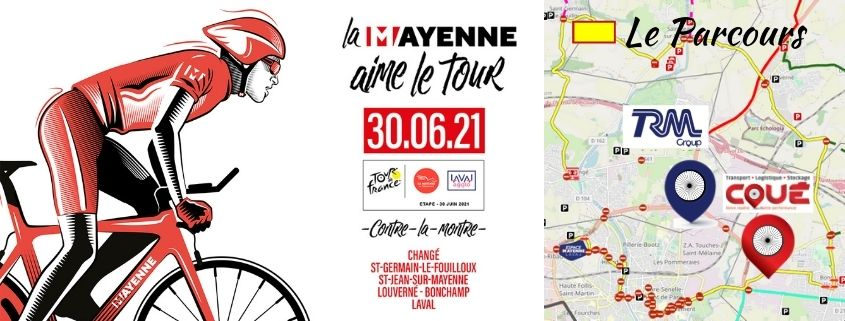 Transports Coué & TRM Group in the heart of the Tour de France time trial course