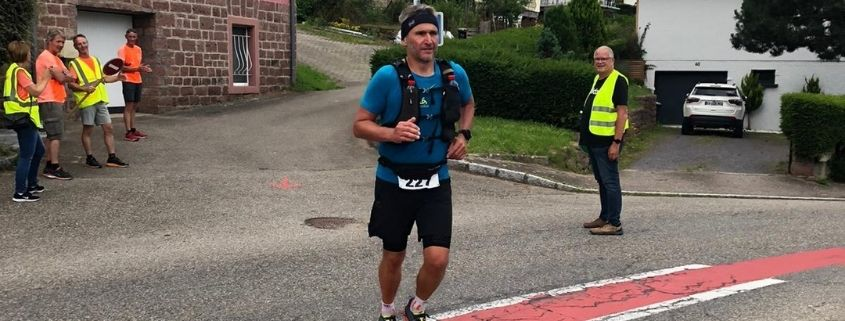 Frederic Serre go back to the trail with the one of the Country of Welche in Alsace