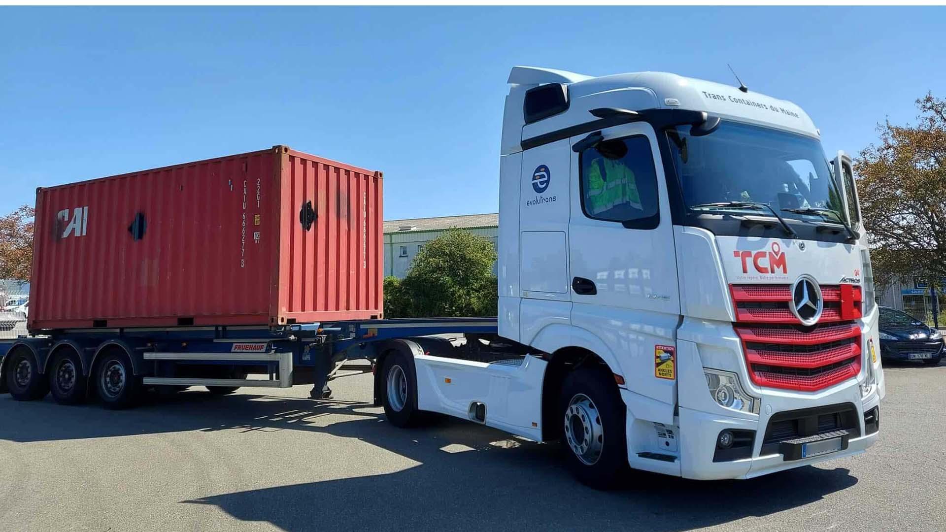 Transport de containers prestation des Transports Coué