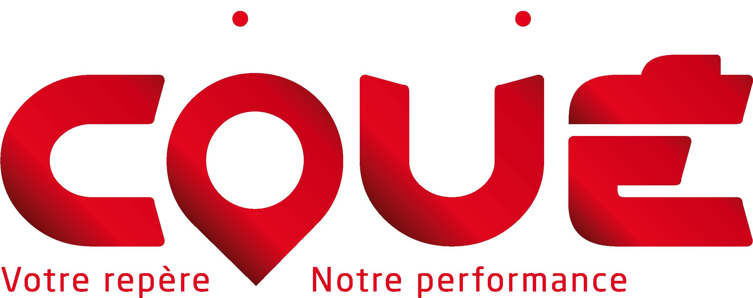 Logo Coué version texte en blanc
