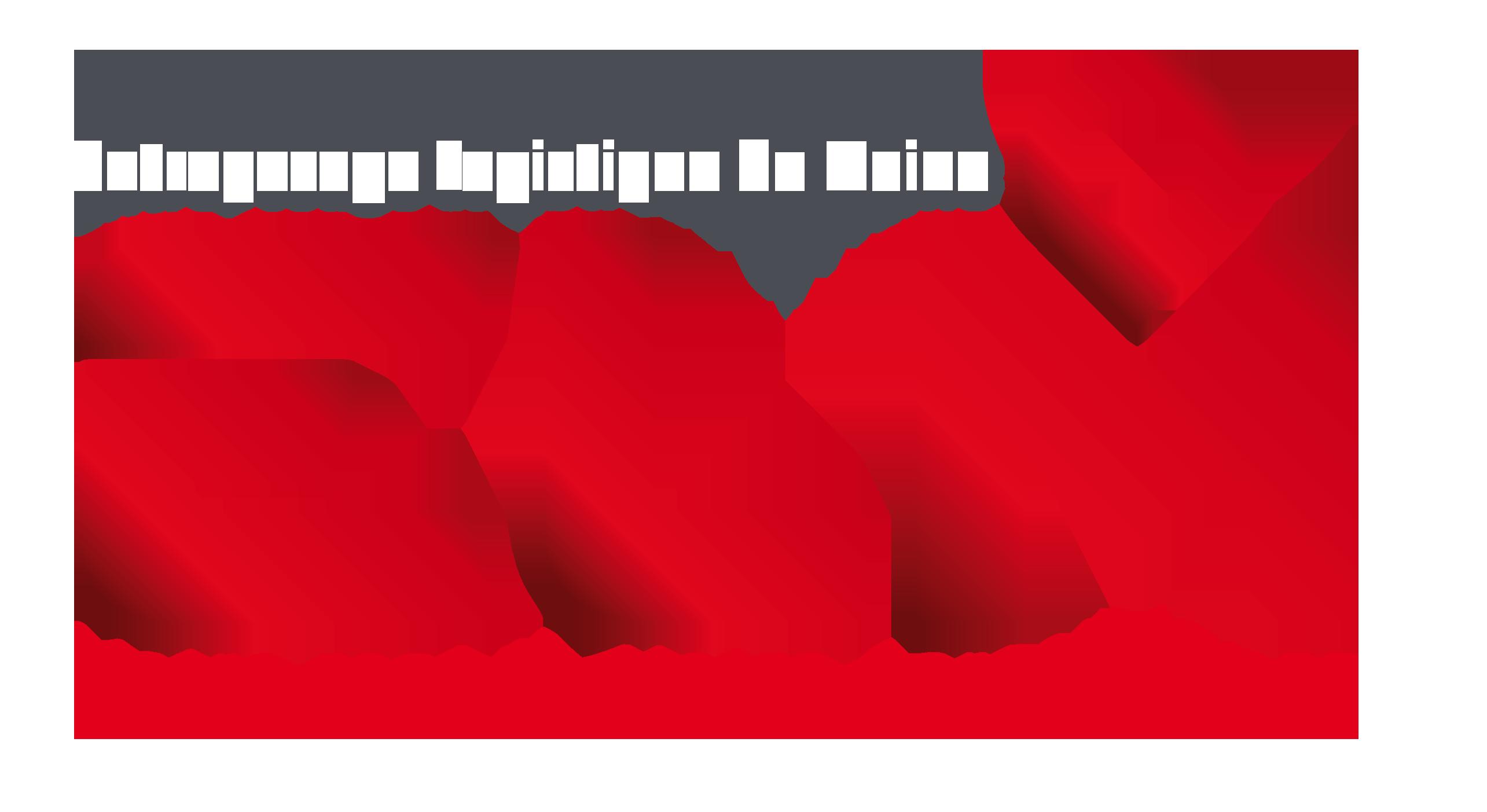 Logo ELM avec texte en blanc