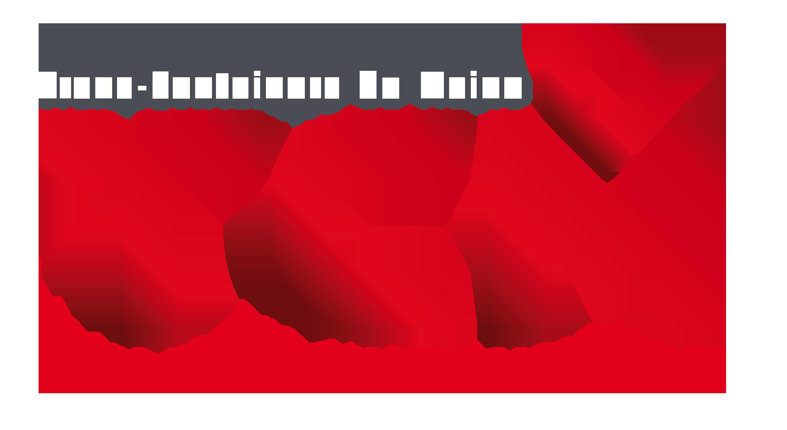 Logo TCM avec texte en blanc