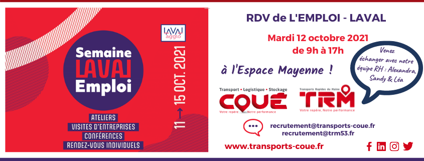 Transport Coué at the job meeting in Laval 2021